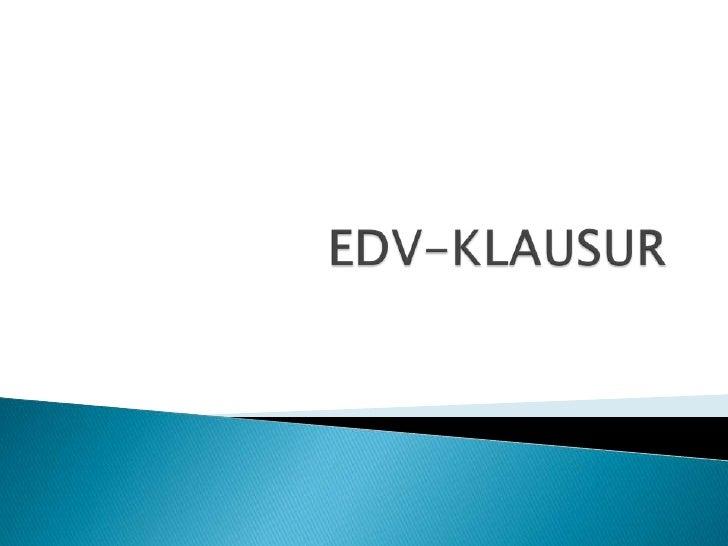 EDV-KLAUSUR<br />