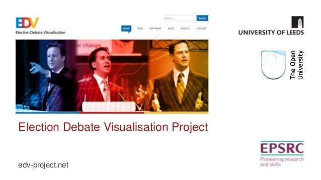 Election Debate Visualisation Project  edv-project.net