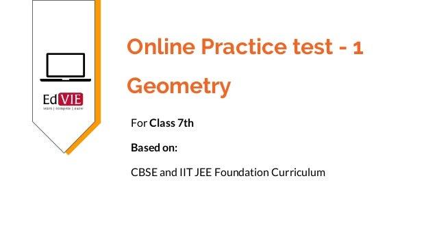 CBSE 7th class Mathematics - Geometry topic free practice tests