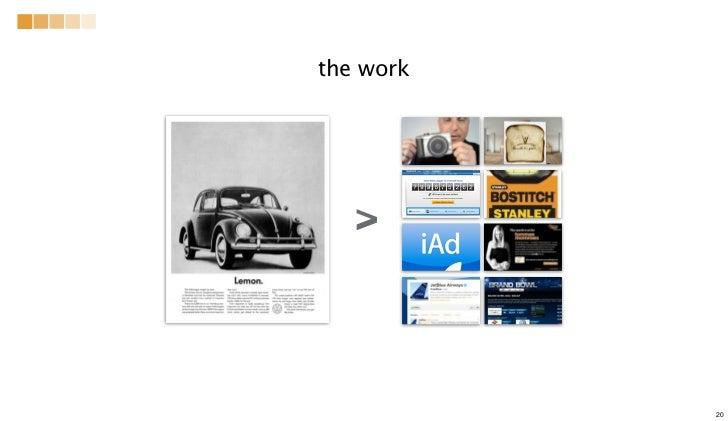 the work v           20