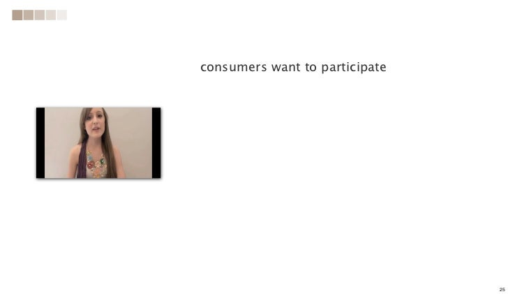consumers want to participate                                25