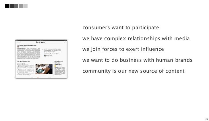 consumers want to participatewe have complex relationships with mediawe join forces to exert influencewe want to do busines...