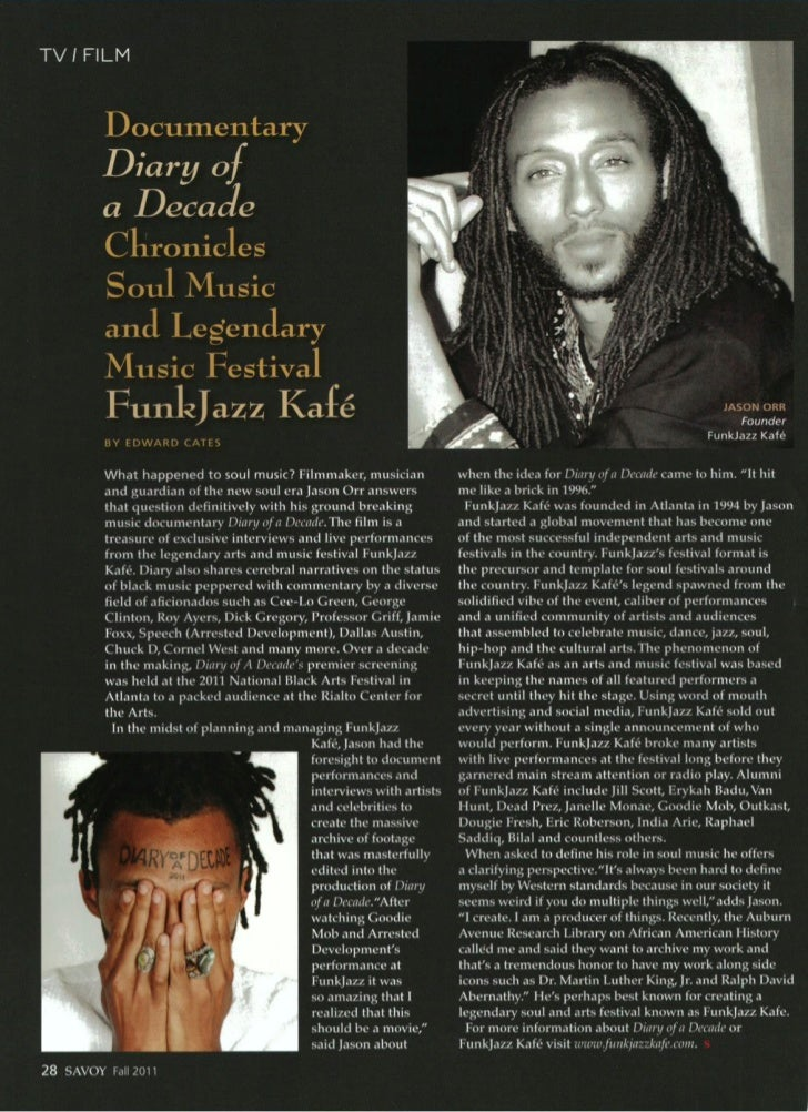 Jason Orr Interview - Diary of a Decade and FunkJazz Kafe Director - Savoy 2011