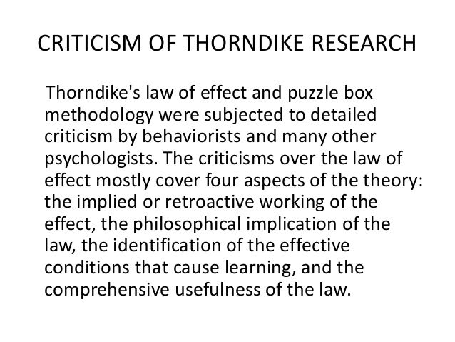 edward lee thorndike law of effect