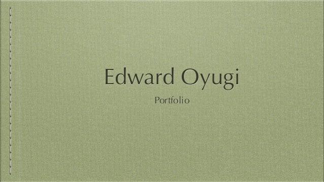 Edward Oyugi Portfolio