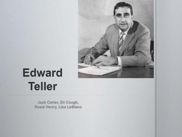 Edward Teller<br />Jack Carter, Eli Cough,<br />Rosie Henry, Lisa LeBlanc<br />
