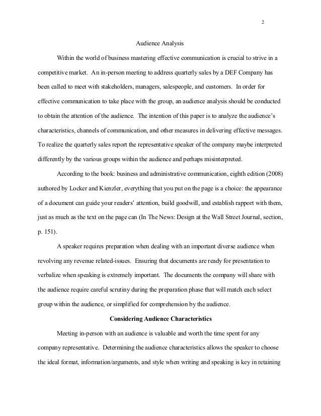essay audience analysis