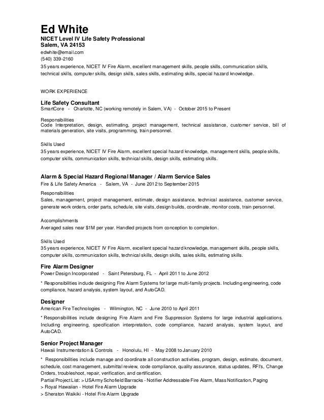 Ed white resume