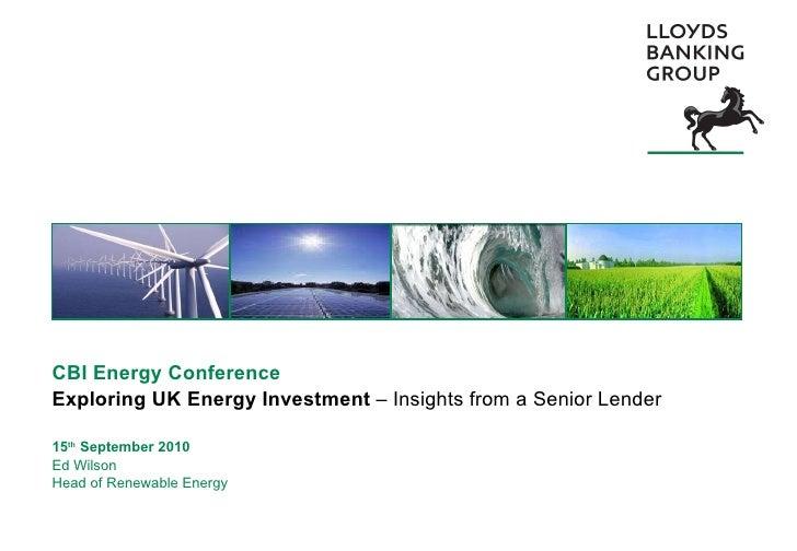 CBI energy conference: Ed Wilson