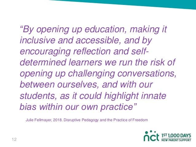 """""""By opening up education, making it inclusive and accessible, and by encouraging reflection and self- determined learners ..."""