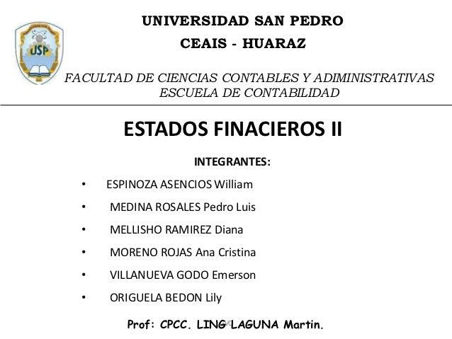 UNIVERSIDAD SAN PEDRO                  CEAIS - HUARAZFACULTAD DE CIENCIAS CONTABLES Y ADIMINISTRATIVAS            ESCUELA ...