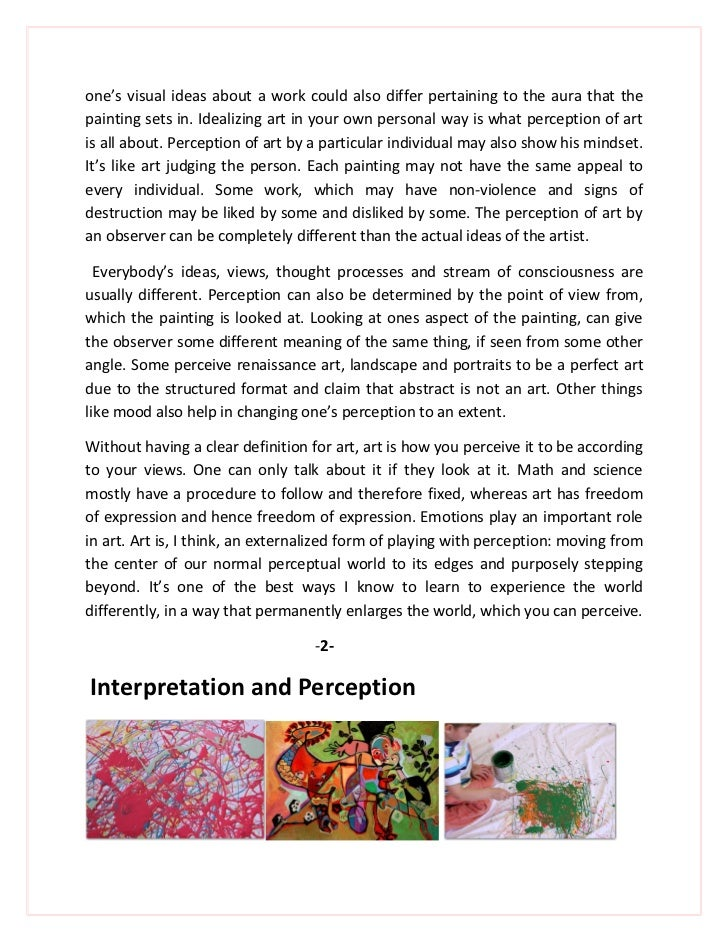 Extended Essay Visual Arts 2012