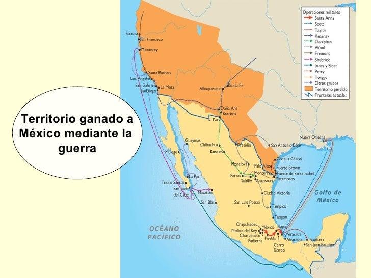 Territorio ganado a México mediante la  guerra