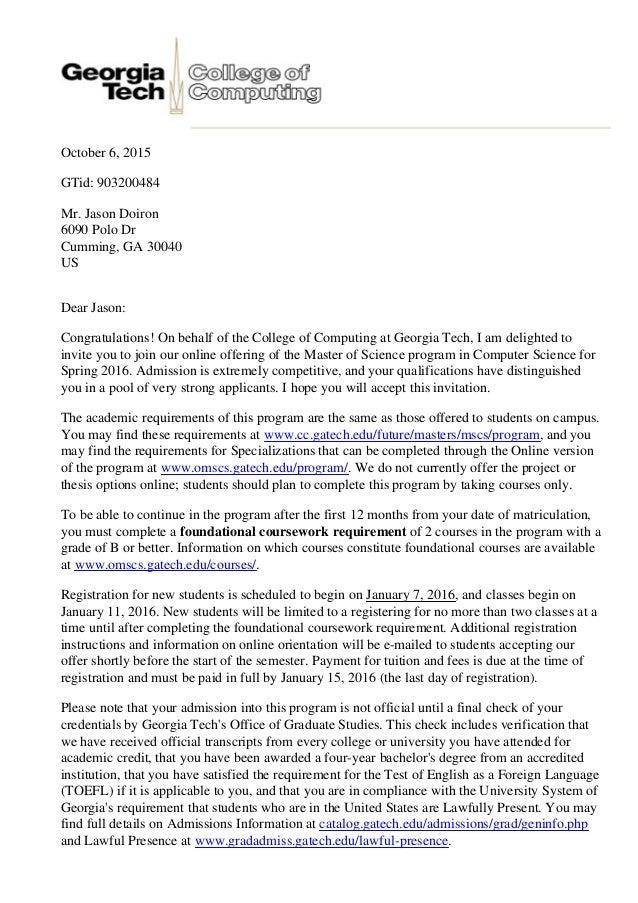 Georgia Tech Cover Letter Romes Danapardaz
