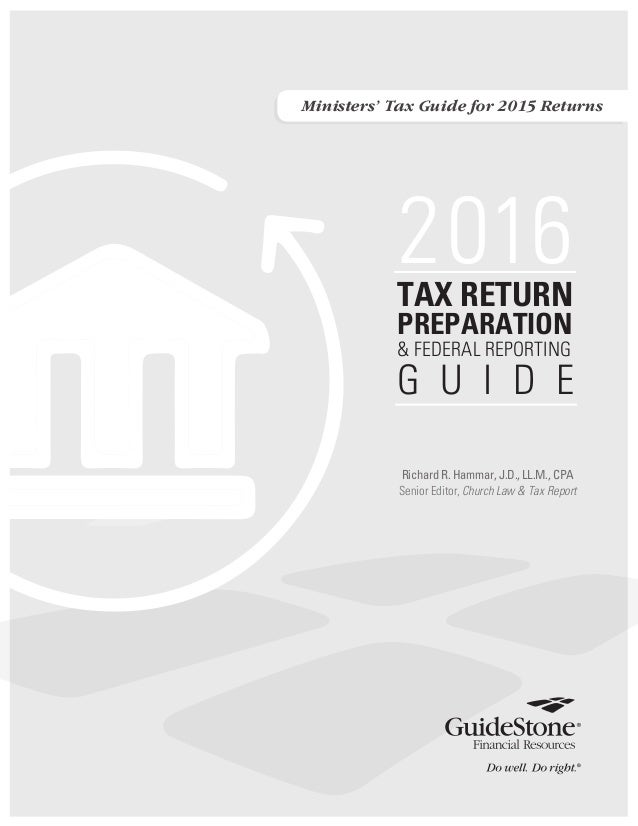 Ministers' Tax Guide_2015 Taxes