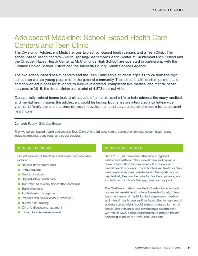 Community Benefit Reports 2015