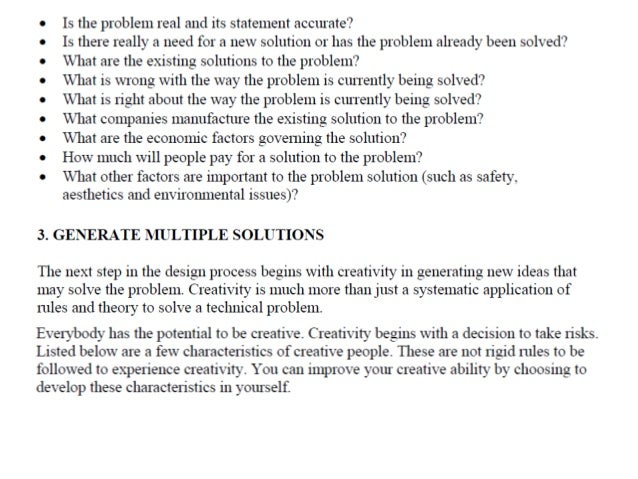1. Identify the Problem  • Engineers are Problem Solvers  • Understand the scope and the nature of the  problem  • Identif...