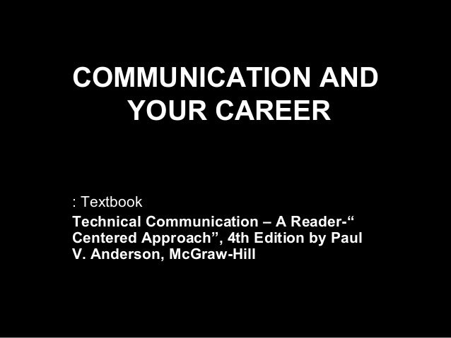 Technical writing a reader-centered approach