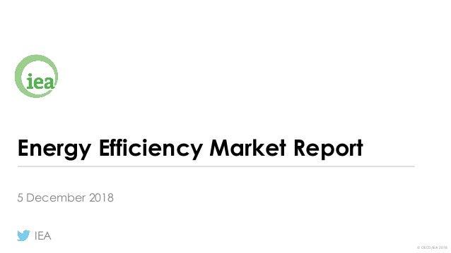 © OECD/IEA 2018 Energy Efficiency Market Report 5 December 2018 IEA