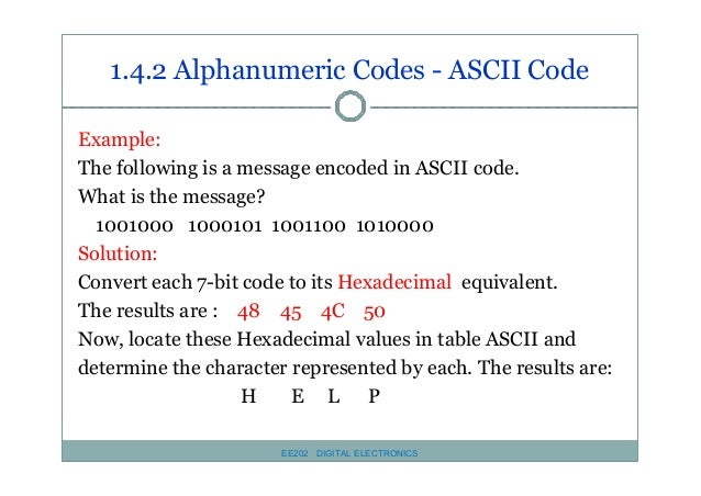 Ee 202 chapter 1 number and code system