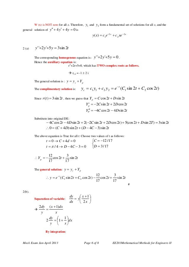 Engineering mathematics 2 questions answers 6 malvernweather Choice Image