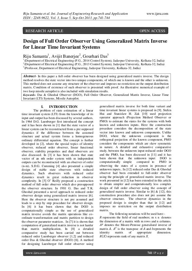 Riju Samanta et al. Int. Journal of Engineering Research and Application ISSN : 2248-9622, Vol. 3, Issue 5, Sep-Oct 2013, ...
