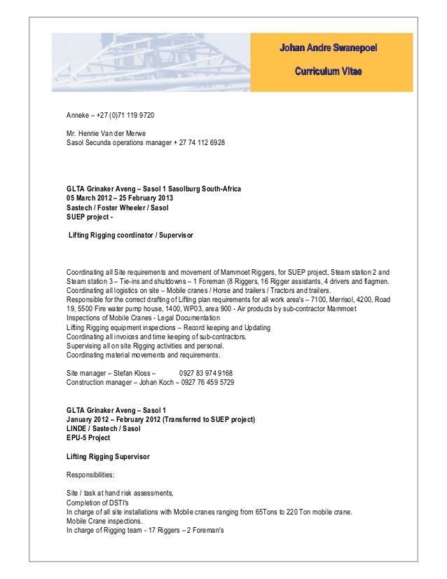 JA_Swanepoel CV updated 16 Sep 2015