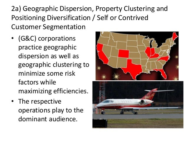 2a) Geographic Dispersion, Property Clustering and Positioning Diversification / Self or Contrived Customer Segmentation •...