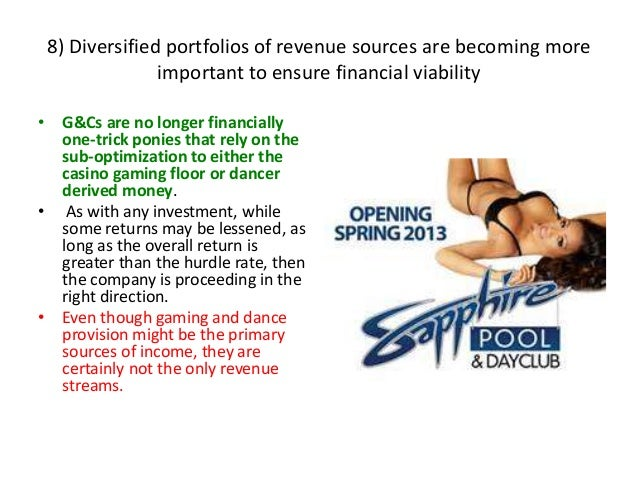 8) Diversified portfolios of revenue sources are becoming more important to ensure financial viability • G&Cs are no longe...