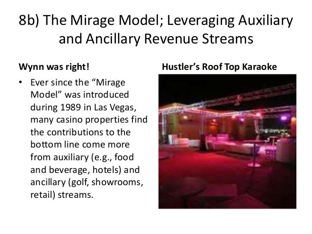 """8b) The Mirage Model; Leveraging Auxiliary and Ancillary Revenue Streams Wynn was right! • Ever since the """"Mirage Model"""" w..."""