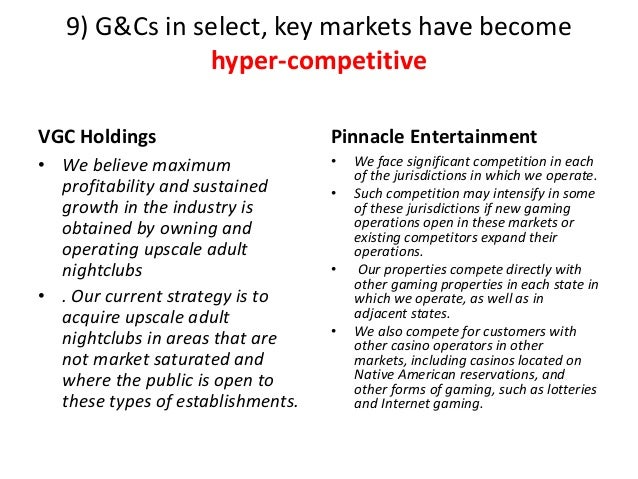 9) G&Cs in select, key markets have become hyper-competitive VGC Holdings • We believe maximum profitability and sustained...