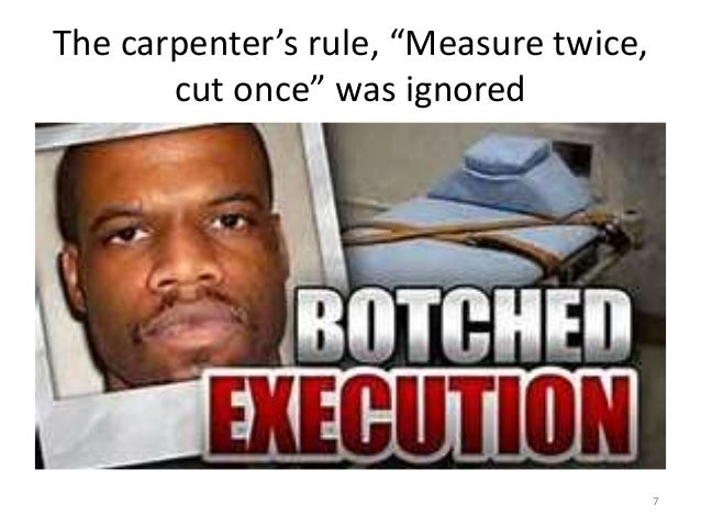 """The carpenter's rule, """"Measure twice, cut once"""" was ignored 7"""