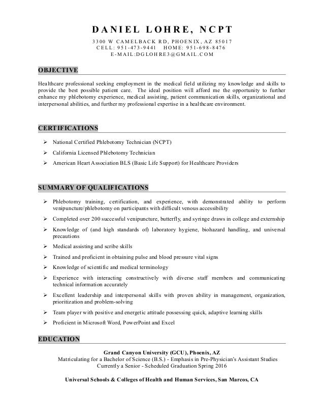 SlideShare  Resume For Medical Field