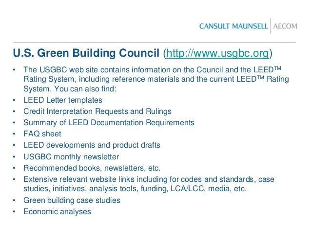 Leed presentation for Leed letter template