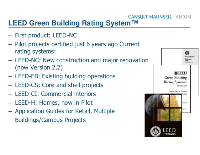 Leed presentation for Leed for homes rating system