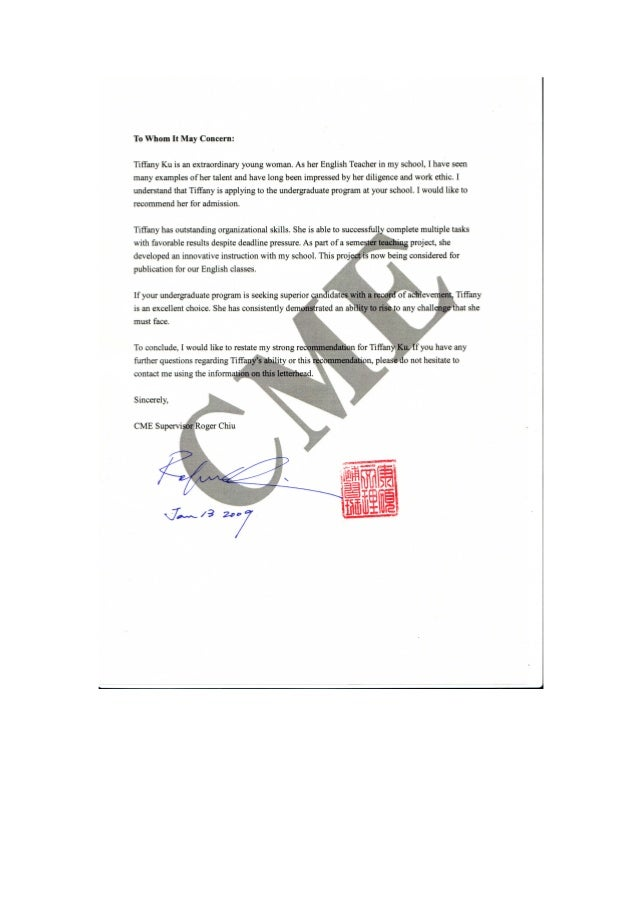 CME Recommendation Letter 2009 Word PDF