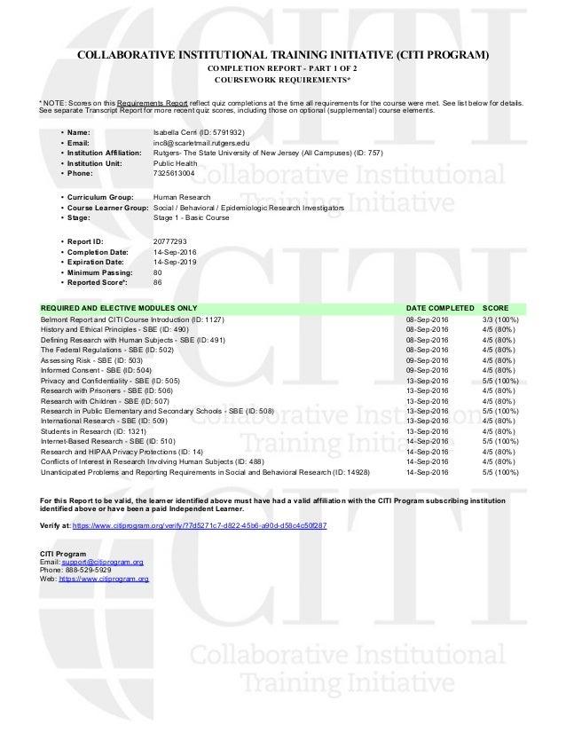 Citi Certification 2016