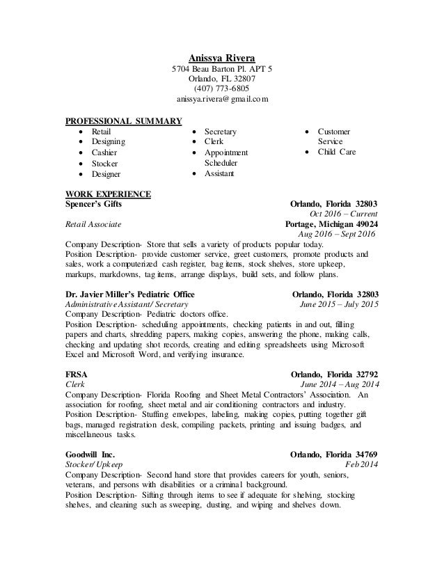 Resume Examples For Restaurant Anissya Rivera Resume Accomplishments On A Resume Pdf with Entry Level Resume Sample Excel Anissya Rivera Resume Anissya Rivera  Beau Barton Pl Apt  Orlando  Fl    Resume For A College Student Excel