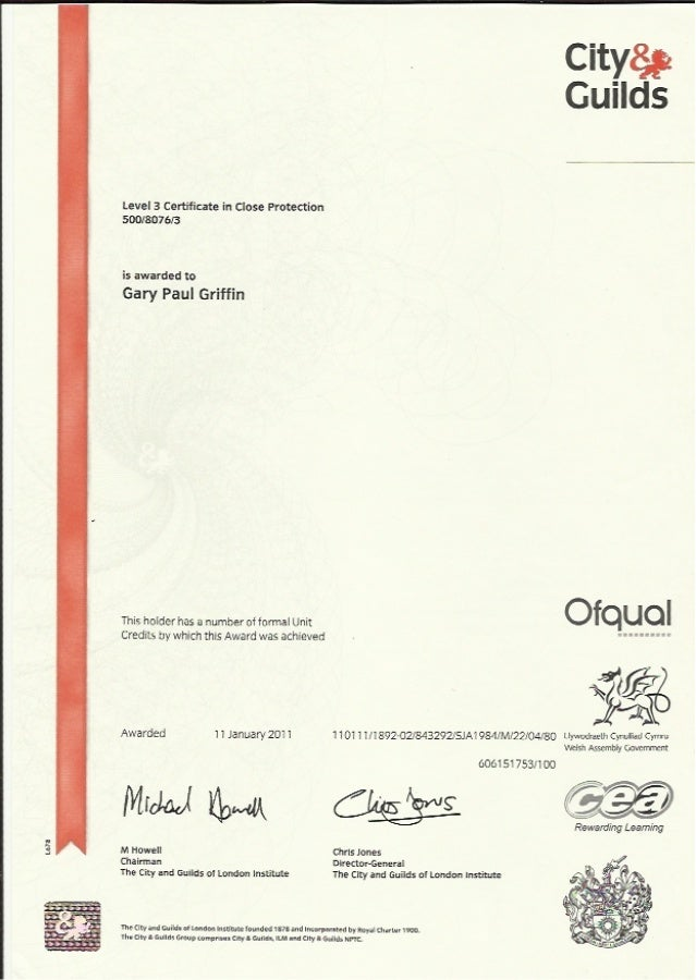 City Amp Guilds Cp Level 3 Certificate
