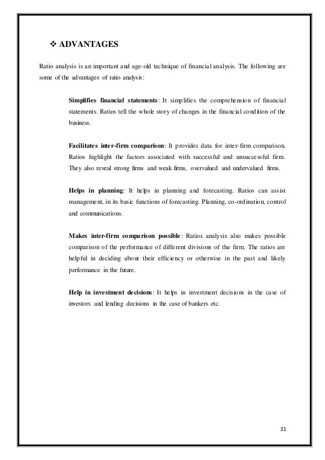 conclusion for ratio analysis project Advertisements: ratio analysis: meaning, classification and limitation of ratio analysis meaning: ratio analysis is the process of determining and interpreting numerical relationships based.