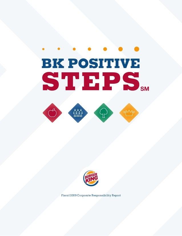 Burger King CSR Report