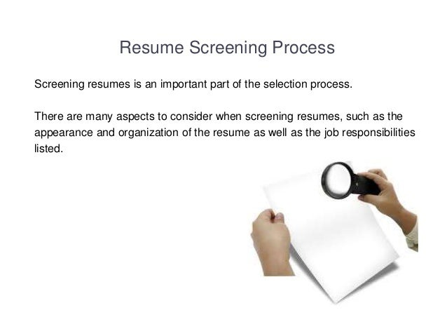 resume screening