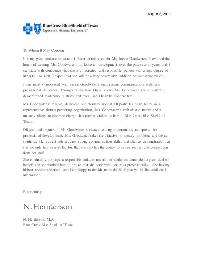 Referral Letter Jackie Goodwater Blue Cross 2016