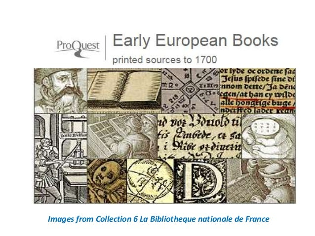 Images from Collection 6 La Bibliotheque nationale de France