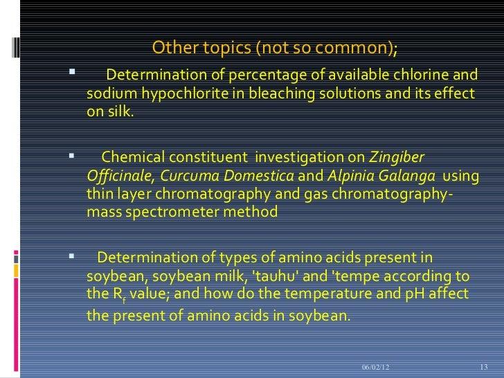 Chemistry EE briefing 2012