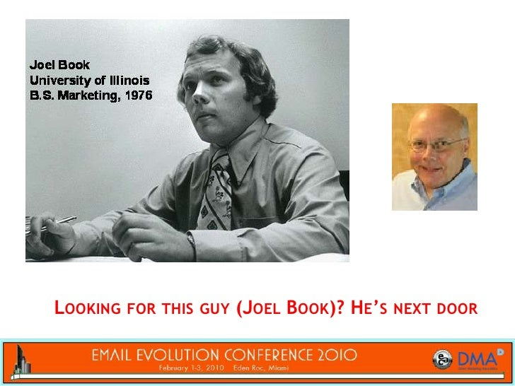 Looking for this guy (Joel Book)? He's next door<br />