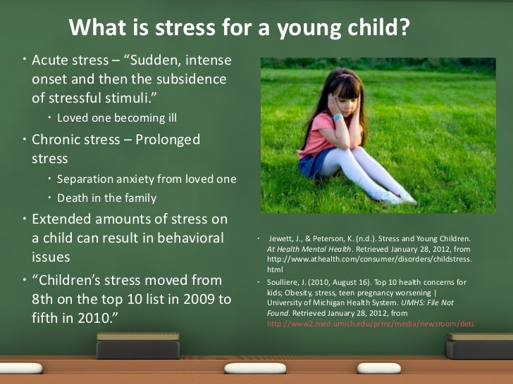 Eec 4731 health issues in young children stress