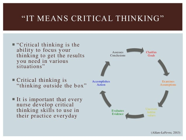 SkillsHub   Critical Thinking Skills for Breakthrough Performance Creating a Critical Thinking Culture