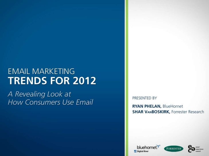Source: BlueHornet Online Email Behavior Survey, Feb 2012 n=1,000