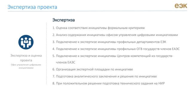 Экспертиза и оценка проекта Офис управления цифровыми инициативами Экспертиза 1. Оценка соответствия инициативы формальным...